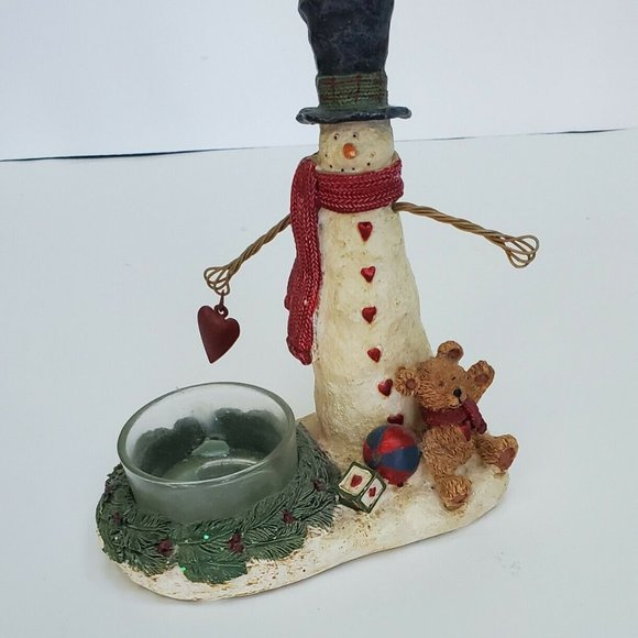 Yankee Candle Snowman With hanging Heart Tea Light